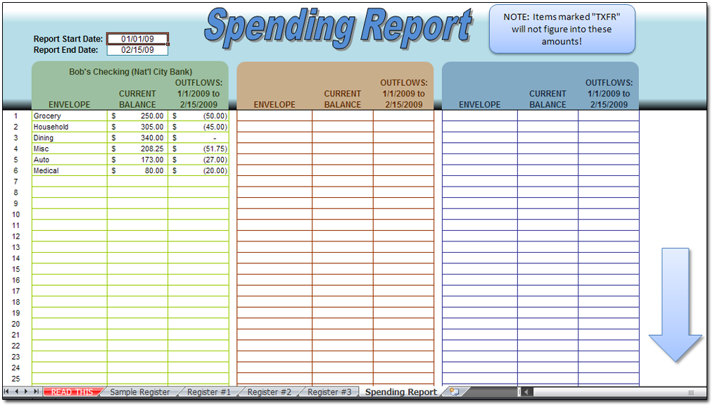 Printables Check Register Worksheet envelopes check register spreadsheet moneyspot org spending report