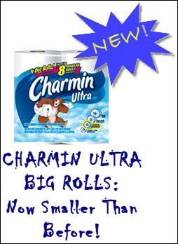NEW CHARMIN BIG ROLLS! SMALLER THAN BEFORE!